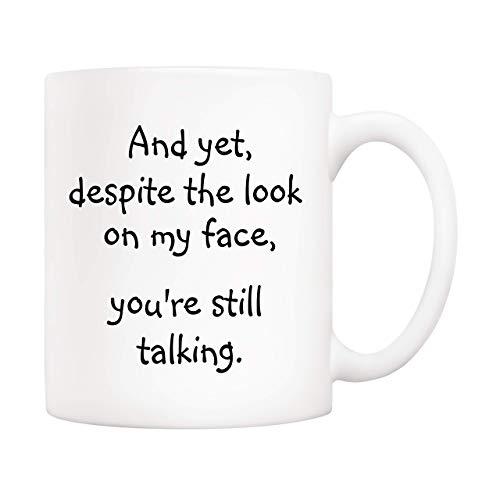 Taza de café con cita divertida de regalos de Navidad