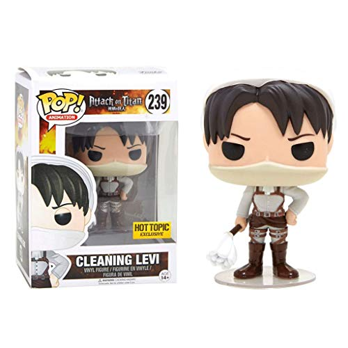 FreeStar Funko Pop Animation : Attack on Titan - Cleaning Levi Gift Vinyl 3.7inch for Anime Fans Multicolur