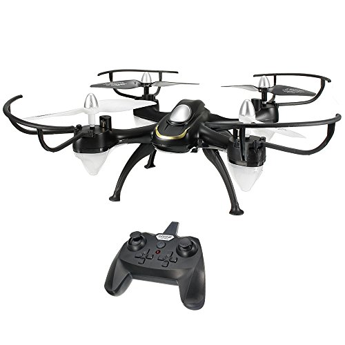 EACHINE E33C Drone con Telecamera RC Quadcopter con Telecamera 2MP HD 2.4G 6-Axis Headless Mode Toys Quadricottero RTF Modalità 2(Nero)
