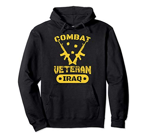 Combat Veteran Tees Iraq Shirts Soldier Men Women Guns Gifts Pullover Hoodie