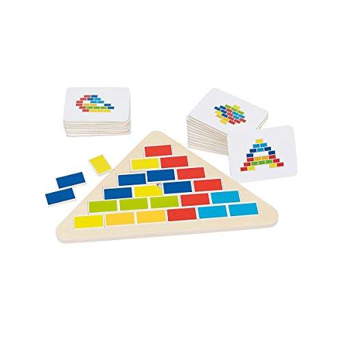 GOKI- Puzzles 3D, Triángulo Segmentado, Multicolor (57924)
