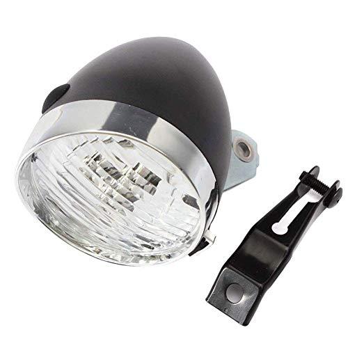 Adore store Nero Vintage Faro della Bicicletta con Staffa 3 LED Retro Luce Anteriore della Bici Bici di Riciclaggio della Testa della Nebbia di Notte della Lampada di Sicurezza