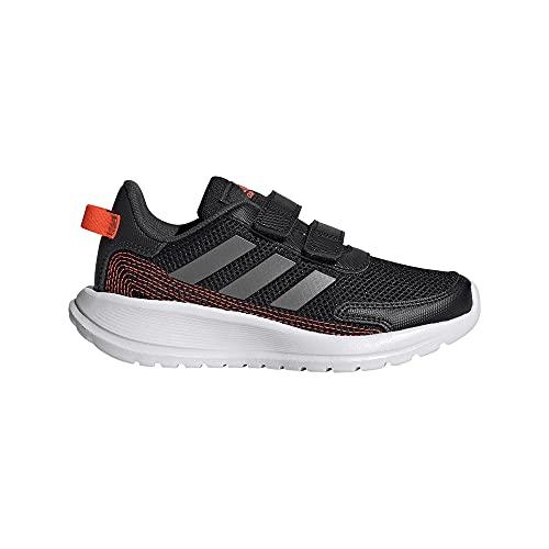 adidas Tensaur Run Road Running Shoe, Core Black/Iron Metallic/Carbon, 34 EU