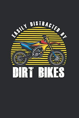 Easily Distracted by Dirt Bikes: Cool Animated Design For Motocross Riders Motor Lover Notebook Composition Book Novelty Gift (6