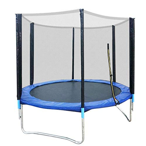 M-YN 5FT, 6FT, 8FT,Trampoline with Net Enclosure – Stable, Strong Kids and Adult Trampoline with Net – Outdoor Trampoline for Kids, Teens and Adults (Size : 244cm)