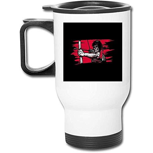 First Blood Skeleton Rambo 16 oz Edelstahlbecher doppelwandige Vakuumkaffeetasse mit spritzwassergeschütztem Deckel