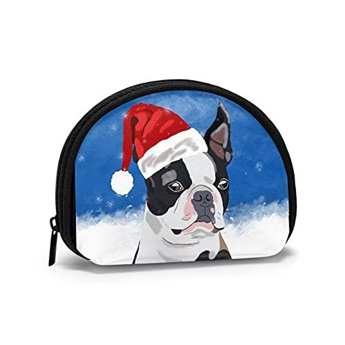 BeachSurfers Boston Terrier - Mini bolsa de almacenamiento para monedas pequeña
