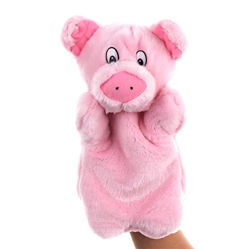NUOBESTY Muñecos de animales a mano de peluche animales cerdos juguetes bombonera para fiestas regalos de cumpleaños para niños