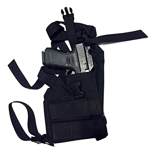 Man Gear Alaska Ultimate Chest Holster - Gen2 for Semi Auto & 1911 Pistols (Black - Right Hand, Large Auto MOS w/1 Mag Pouch)