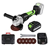 LETTON 21V Brushless Cordless Angle Grinder, Max 8000RPM Electric...