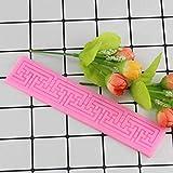 CSCZL Alfombrilla de Encaje Molde de Silicona Artesanía de azúcar Fondant Moldes para Pasteles Herramientas de decoración Accesorios de Cocina Herramientas para Hornear