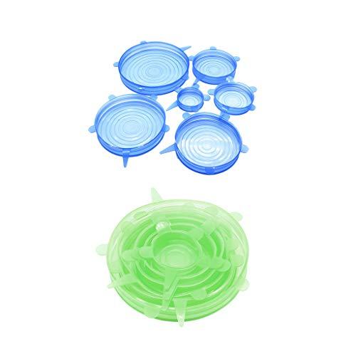 Gazechimp 2 Juegos de Tapas Redondas Elásticas de Silicona para Cocina, Tapas para Cuencos, Alimentos StayFresh