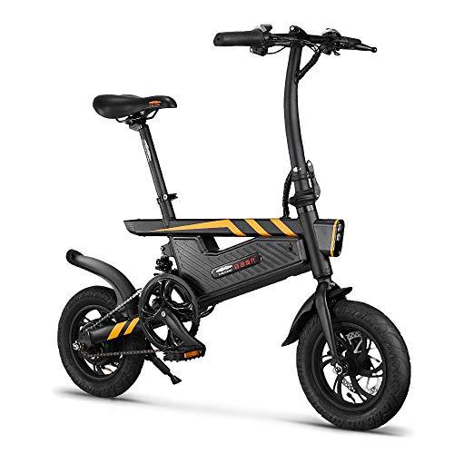 RPHP Elektrische fiets, inklapbaar, 12 inch, elektrische fiets, 250 W, elektrische rem, inklapbaar