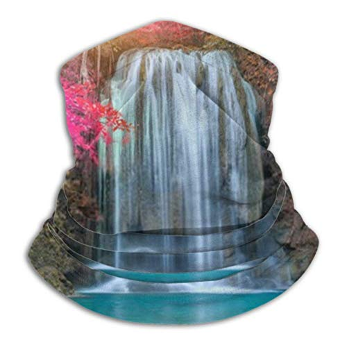 Merle House Multifunktionstuch Halstuch Neck Gaiter Tube, Ear Warmer Headband. Erawan Waterfall Beautiful Sunlight Rays Deep Ultimate Thermal Retention