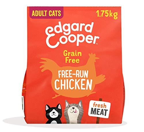 Edgard & Cooper Natürliches Trockenfutter für ausgewachsene Katzen, 1,75 kg, Huhn, getreidefrei und hypoallergen