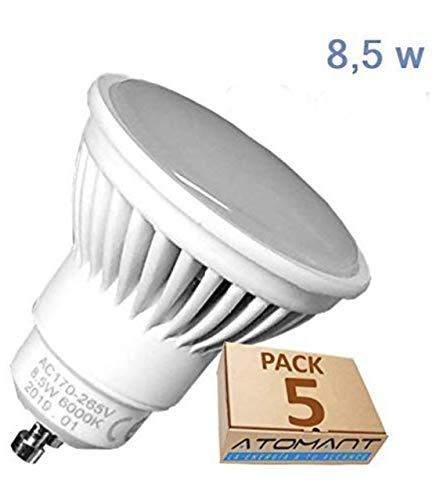 Pack 5x GU10 LED 8,5w Potentisima. Color Blanco Neutro