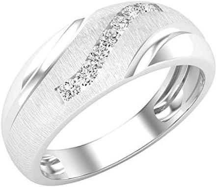 Dazzlingrock Collection 0 22 Carat ctw Round Lab Grown White Diamond Men s 7 Stone Anniversary product image