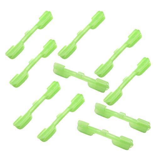 perfeclan Pinzas para Caña de Pescar con Pinza Fluorescente de 10 Piezas - L