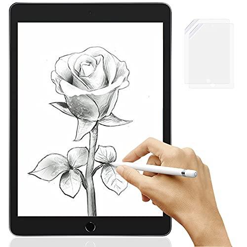 OOTD 2 Stück Folie Kompatibel mit iPad 10.2, Write Like Paper Schutzfolie für iPad 2021/2020/2019 10,2 Zoll, Displayschutz Matte Bildschirmfolie für iPad 9/8/7Generation[Unterstützt Pencil]
