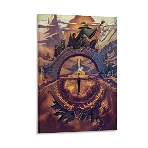 DRAGO VINES Signore degli anelli fumetti pittura su tela fumetti 30 x 45 cm