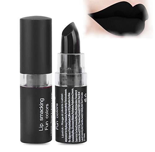 Vampire Matte Lipstick, Frauen Langlebiger Lippenstift Retro Werkzeug Für Party Masquerade Cosplay Lippenstift'Schwarz' für Halloween Makeup(04# Schwarz)