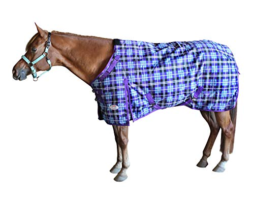 Derby Originals Arctic Plaid 1200D Ripstop Waterproof Nylon Horse Winter Turnout Blankets with Two Year Warranty, Heavyweight 300g Insulation, Available in Three Plaid Prints