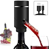 Aireador de Vino Dispensador de Aireador y Vino Tinto Dispensador - Automático de Oxidante de Vino Eléctrico Multi Inteligente Pourer Recargable Compatible con la mayoría de Botellas