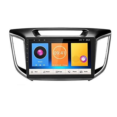 KCSAC Para Android 2Din Coche Radio 10.1'Player Multimedia Player GPS Fit para Hyundai Creta IX25 2015-2018 2 DIN No DVD (Color : Without camera)