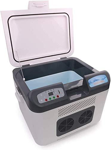 WSJTT Auto Kühlschrank Mini Kühlschrank Weiß Kühlbox Tragbarer Autokühlschrank Gefrierschrank Kühlbox für Auto, Innenraum, Camping 38 * 25 * 26cm