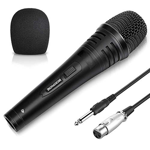QCHEA XLR Profesional Canto Karaoke Vocal micrófono dinámico con 16,5 pies de la Cuerda, la Fiesta al Aire Libre del hogar KTV Grabación Canto En Cualquier Momento Juego