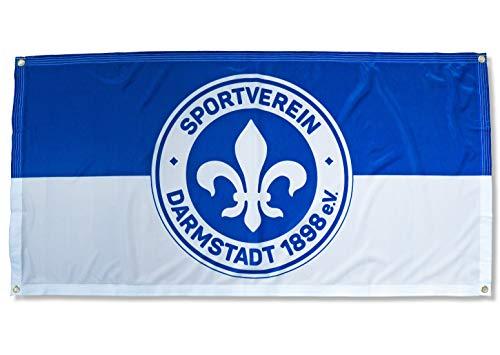 Sportverein SV Darmstadt 98 Fahne - Zaunfahne Flagge mit Ösen 140x70cm - Original Lizenzprodukt