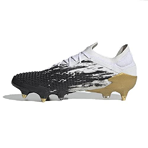 adidas Predator Mutator 20.1 L SG, Scarpe da Calcio, White-Gold Metallic-Core Black, Taglia 10 UK (44 2/3 EU)