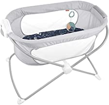 Fisher-Price Soothing View Vibe Bassinet – Moonlight Forest Folding Portable Baby Cradle for Newborns and Infants