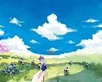 数字による絵画DIY手花芝生アクリル家の装飾アート画像ギフト数字によるペイントカラー原稿 カスタマイズ可能 50x65cmフレームなし