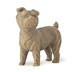 Sentiment: Always with me, full of personality; written on enclosure card 2 Inch hand-painted resin figure; ready to display on a shelf, table or mantel; to clean, dust with soft brush or cloth Pets join the Willow Tree family; dog and cat figures wo...