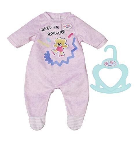 Zapf Creation 830574 BABY born Little Strampler rosa 36 cm - pastellfarbenen Puppenstrampler für 36 cm große Puppen
