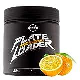 Plate Loader - Pre Workout Energy als Focus - Pump Booster und Fatburner mit L-Arginin + L-Citrullin Tyrosin L-Norvalin, Koffein Taurin Piperin Niacin (Sunny Orange, 560g)