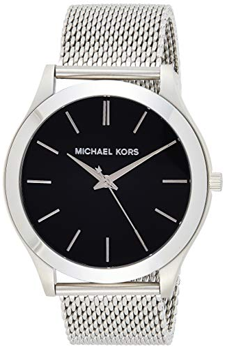 Michael Kors Herren Analog Quarz Uhr mit Edelstahl Armband MK8606