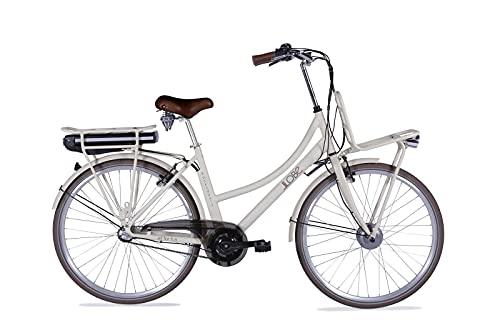 LLOBE City E-Bike Rosendaal 2 Lady beige 28 Zoll, Akku 36V / 15.6Ah, 250 Watt Motor