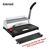 Binding Machine, 21-Holes, 450 Sheets, Comb Binding Machine with Starter Kit 100 PCS 3/8''...