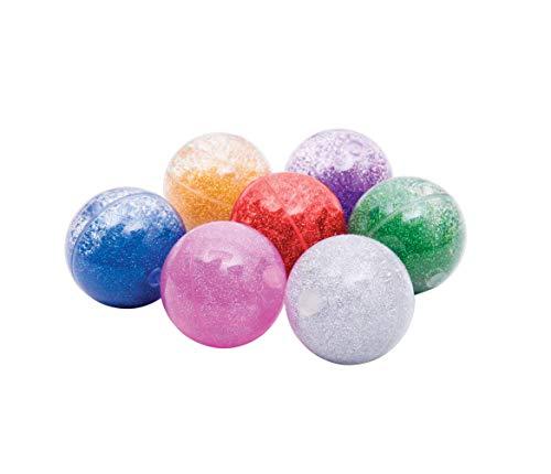 TickiT 92098 Zestaw kulek z czujnikiem tęczy, 7 odbijających się kulek w kolorze czerwonym/srebrnym/złoty/zielony/niebieski/różowy/fioletowy