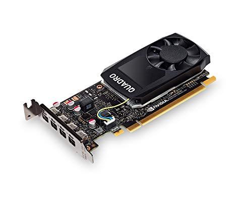 PNY Quadro P1000 DVI Scheda grafica professionale 4GB GDDR5 PCI Express 3.0 x16, slot singolo, 4x Mini-DisplayPort, supporto 5K, ventola attiva ultrasilenziosa