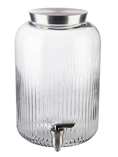 APS Dispensador de Bebidas - Laterales Gruesos, Abertura Grande para Ingredientes Grandes, dispensador de Agua, Tarro de conservas, Grifo, Altura: 30,5 cm, Capacidad: 7 L