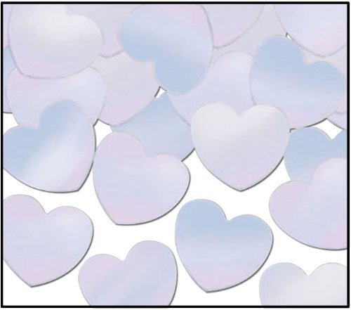 Opalescent Fanci-Fetti Hearts - 12 Pack [36 Pieces] *** Product Description: These Opalescent Fanci-Fetti Are Heart-Shaped To Add Glamour And Romance To Any Valentine'S Or Wedding Party. 1 Oz. Per Packaged All Sales Final, No Returns ***