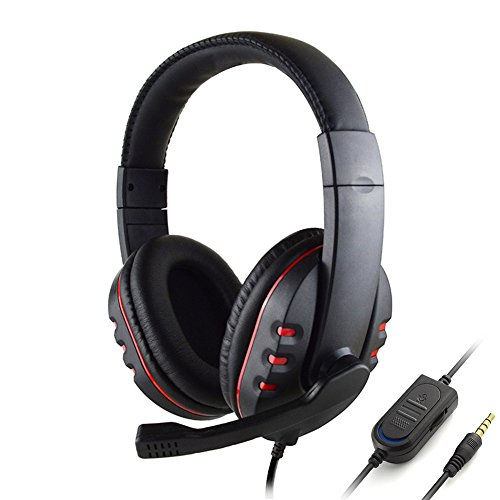 Wired Stereo Headset Gaming Over Ear Headphones With Mic For PS4 3.5mm