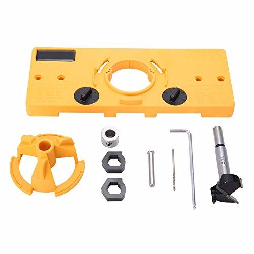 35mm Hinge Drilling Jig + 35mm Forstner Bit Woodworking Tool Drill Bits for Cabinet Door Installation