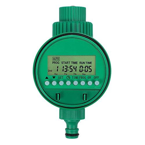 LCD Anzeige Automatische Bewässerungsuhr Elektronische Wasser Timer Zeitmesser Zeitschaltuhr Automatische zeitsparende Bewässerung Controller programmierbare für Haus Garten Gewächshaus Pflanzen