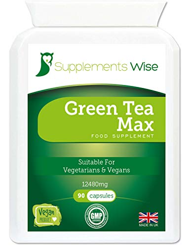 Green Tea Extract Capsules - 90 x 12480mg - High Strength Vegan Supplement - Provides Polyphenols, Catechins and EGCG - Suitable for a Keto Diet
