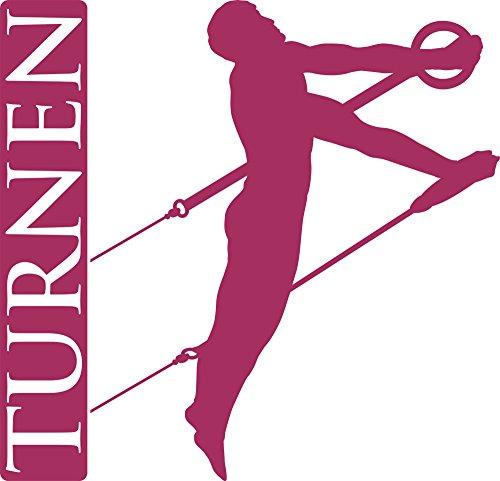 GRAZDesign Wandtattoo Turner Wand-Aufkleber für Turnbereich Sportler Motivation, Fitness, Fitnessraum (59x57cm//821 Magnolia)