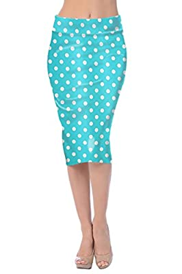 Jubilee Couture Womens Midi Mid Long Below Knee Pencil Skirt Made in USA